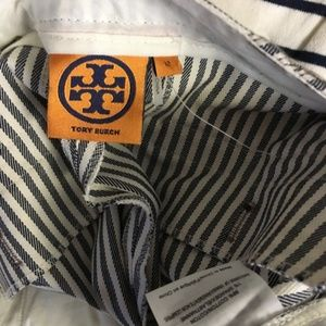 Tory Burch Shorts - TORY BURCH Sarah Jane Dover Stripe Shorts 12